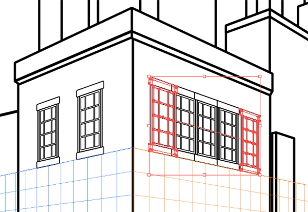Window copies with Blend Tool