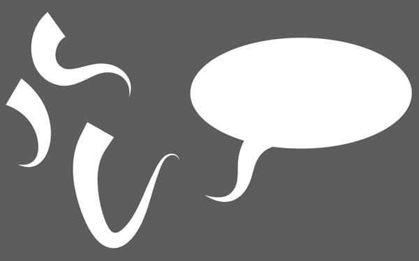 Create tails for the speech bubble using the new Art brush
