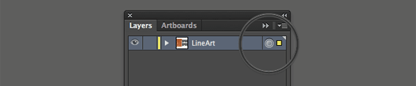 Layer Selection button