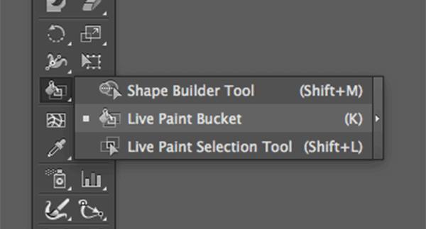 Live Paint Bucket menu