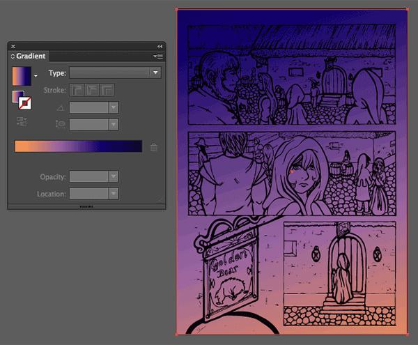 Gradient background blend mode multiply