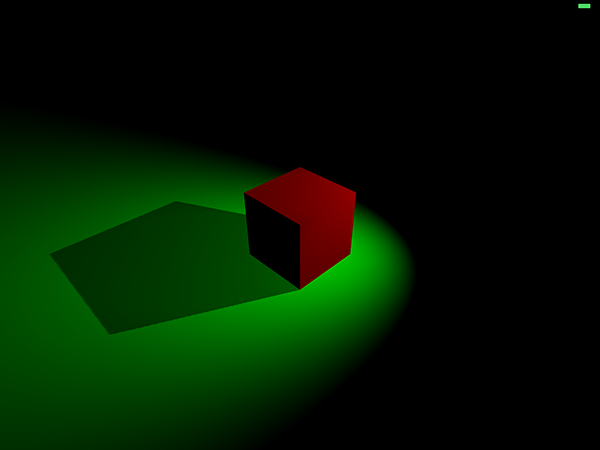 Cube and plane with shadow