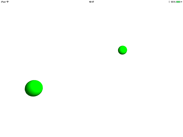 Scene with some deleted nodes