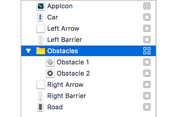 Obstacles Texture Atlas