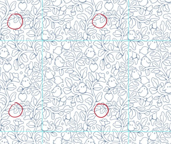 Seamless pattern in PS - finding flaws in the repeat