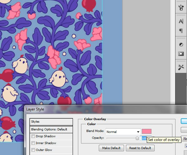 Seamless pattern in PS - the final tile recolored