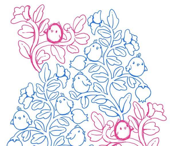 Seamless pattern in PS - growing the layout