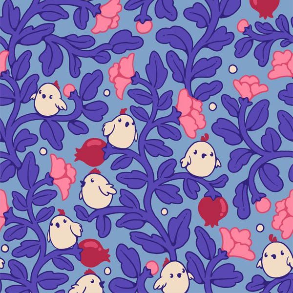 Seamless pattern in PS - completed pattern
