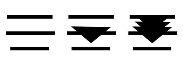 The Devils Knees motif - starting steps