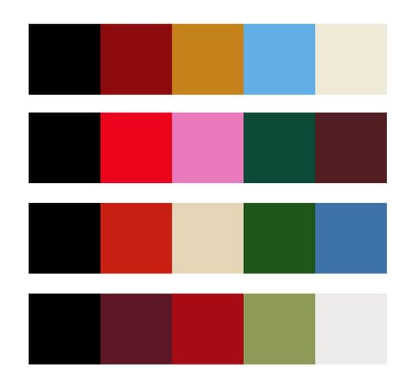 Traditional kilim colorways
