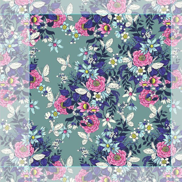 Make a floral pattern for fabric in PS - making the final repeat