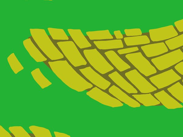 Brick Road and Poppy Field pattern - adjusting the brick colors