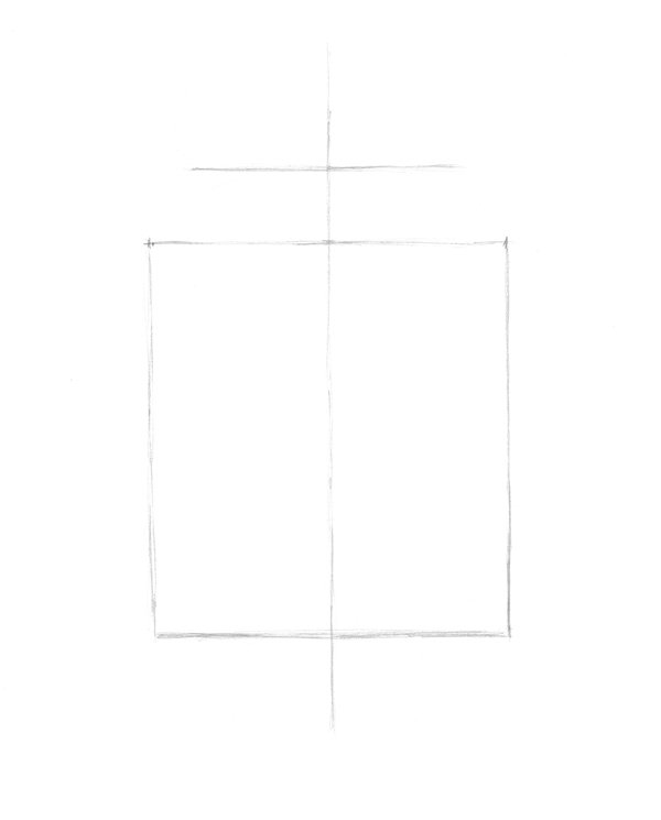 Creating central line and borders with a pencil