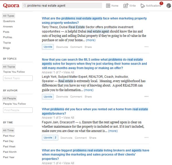 Quora real estate agent problem questions