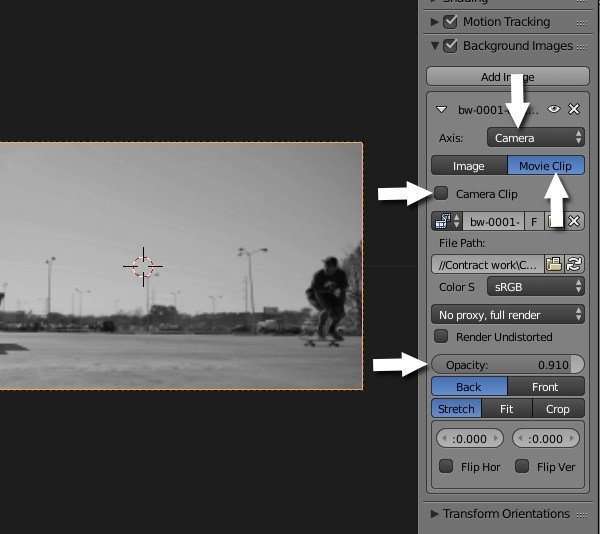 Background video settings