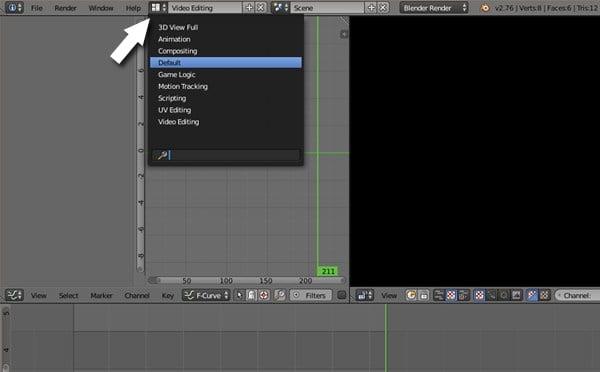 Default screen layout