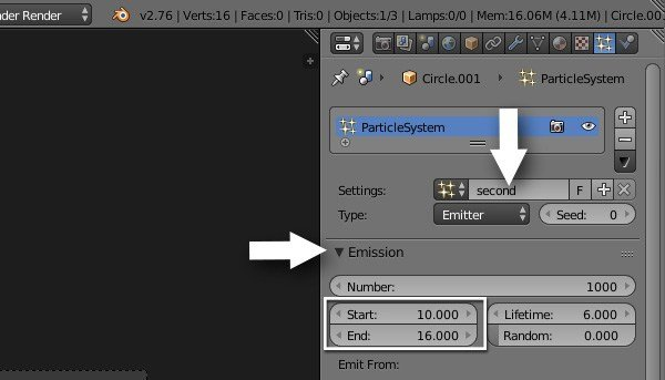Rename the particle setup