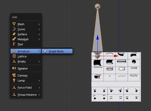 Adding new armature object