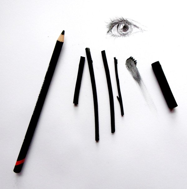 Charcoal pencils and sticks