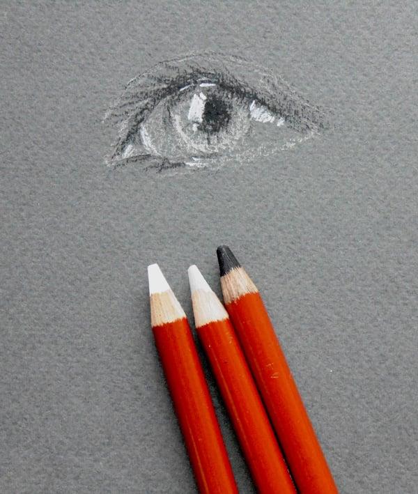 Conte pencils