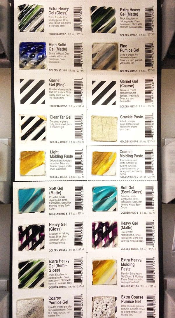 Mediums - shop samples