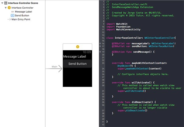 Watch App - Creating Controls and Connect IBOutlets and IBAction