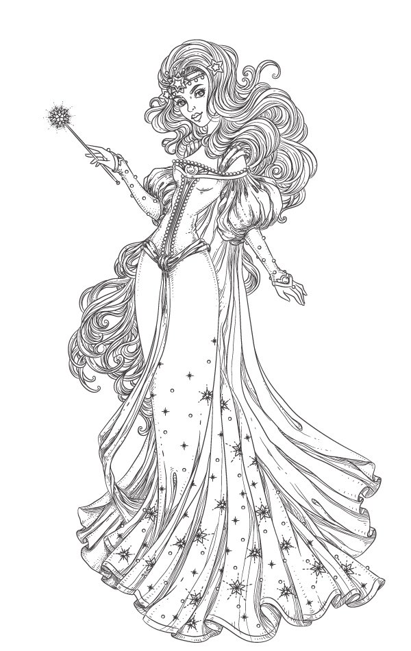 lineart of the character