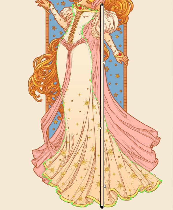 gradient on the dress