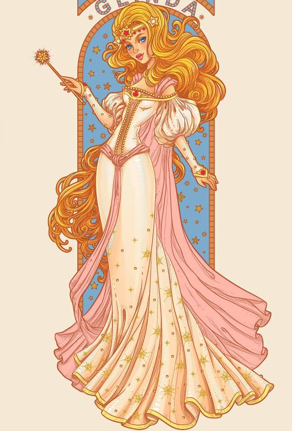 gloss on the dress
