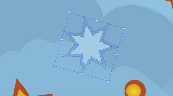 making of the additional background stars