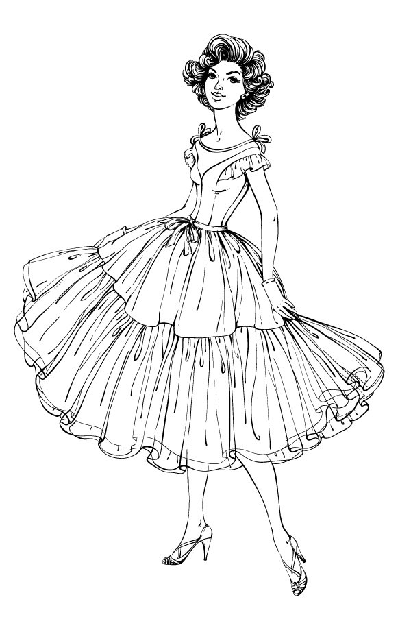 line art of the character