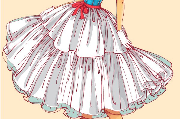 adding shadows to the petticoat