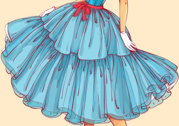adding shadows to the skirt
