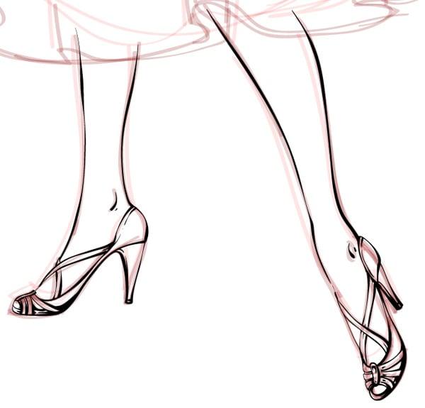 contour of the legs