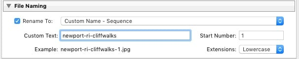 Custom Name - Sequence