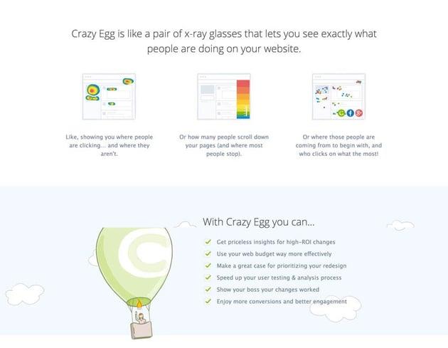 Crazy Egg sales page copy