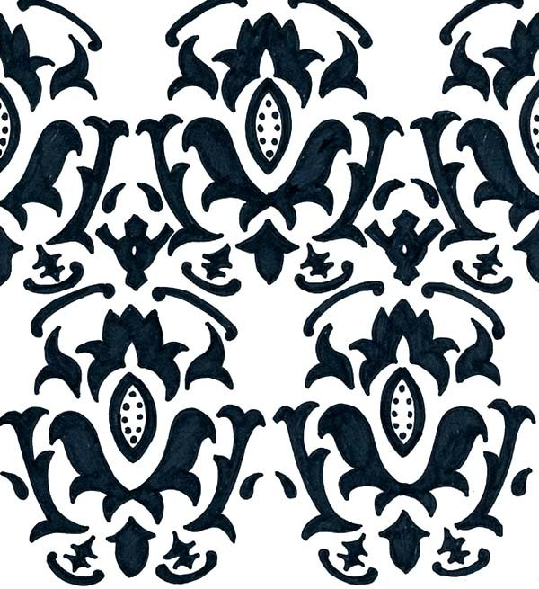 Fill in the wallpaper shapes