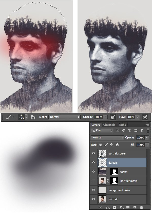 make the eyes area more clear and contrast