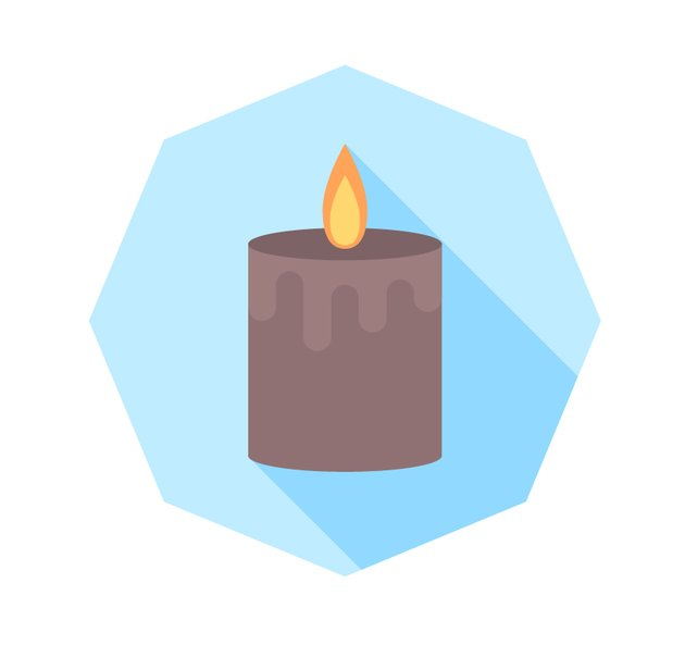 Finish up with our candle icon