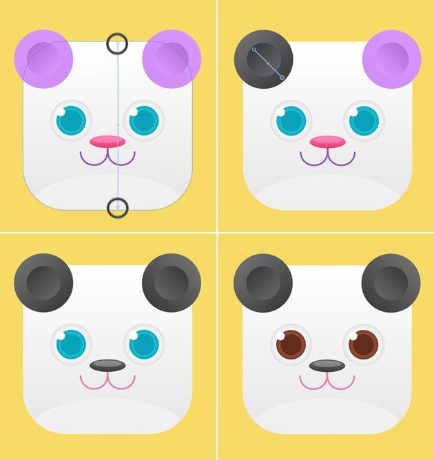 recolor the bear icon