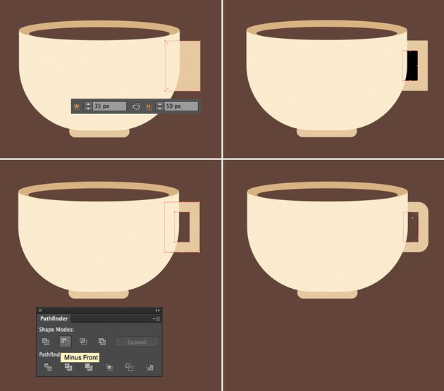add a handle to the cup