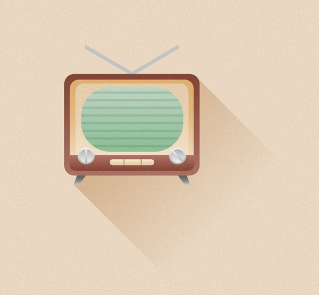 retro TV icon is finished