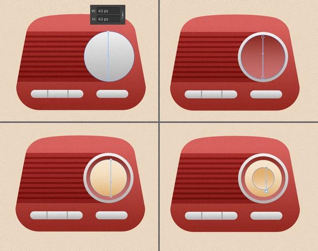 add a big round switcher to our radio 1