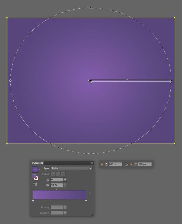 make a purple rectangular background