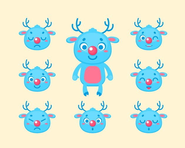 Cute Christmas Deer Construction Kit is Finished