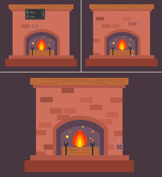 add a brick texture to our fireplace