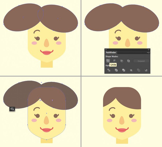 make a hairdo from ellipses