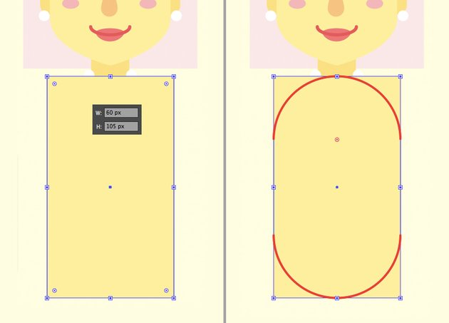 make a body from rounded rectangle