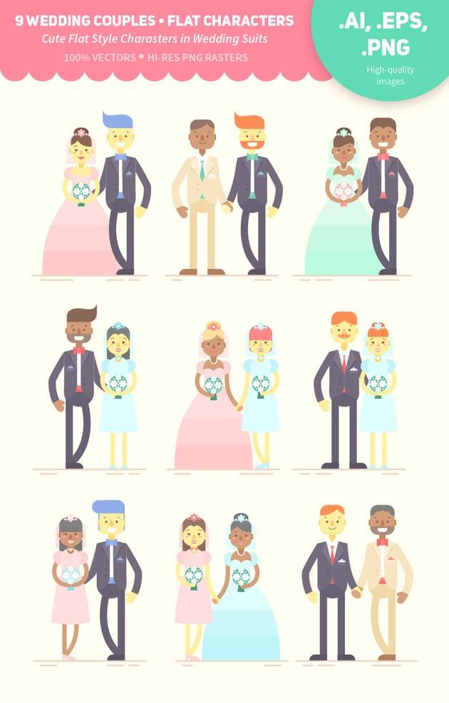 Wedding Couples on GraphicRiver