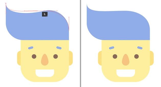 edit the anchor handles
